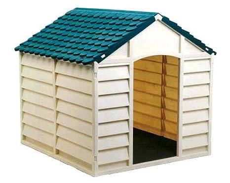 COOLMINIPRIX - Juego de 3 - Caseta para Perro PVC Theo 72 x 71 cm Beige - Calidad: Amazon.es: Hogar