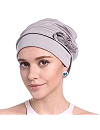 Upsmile Women's Knit Chemo Hat Beanie Scarf, Turban Headwear for Cancer Patients