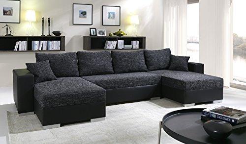 Sofa Couchgarnitur Couch Sofagarnitur TIGER 3 U Polstergarnitur Polsterecke Wohnlandschaft mit Schlaffunktion