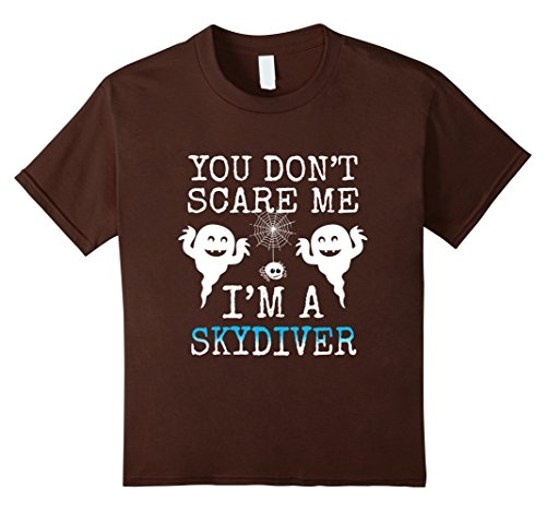 Kids Funny You Don't Scare Me Halloween Skydivers T Shirt 8 Brown