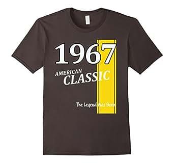 Mens Classic 1967 50th Birthday T-Shirt Gift 50 Fun Retro Shirt 2XL Asphalt