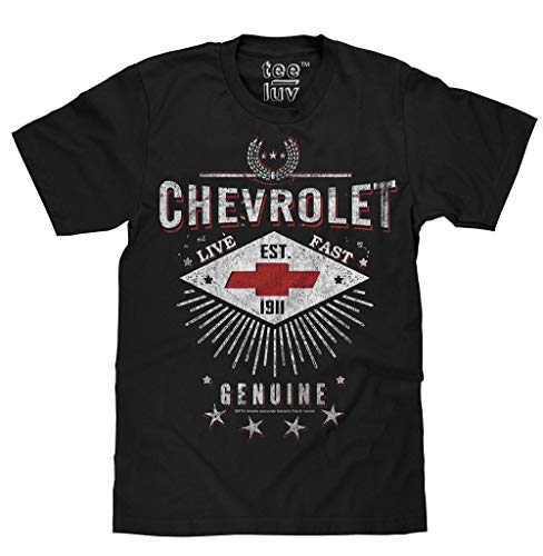 Tee Luv Chevrolet Live Fast Licensed Men's T-Shirt-XX-Large  ()