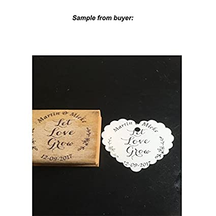 Buy Generic 38x38mm Rubber Stamp Let Love Grow Customized