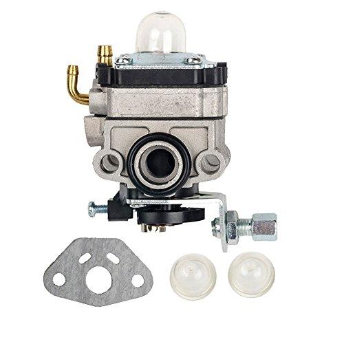 HIFROM Carburetor Carb with Primer Bulb + Gasket for Honda GX31 GX22 FG100 Little Wonder Mantis Tiller Carb 16100-ZM5-803