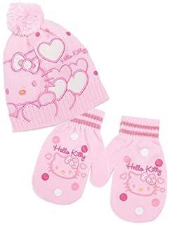 Berretto e muffole Bambino Ragazza Hello Kitty ROSA E Ecru da 9 a 36 mesi a7a27e5ca3c2