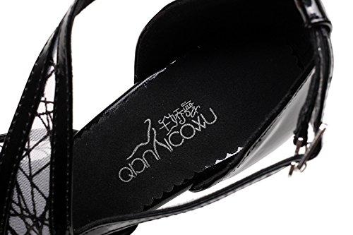 Women's UK4 heeled8 Black Samba JSHOE Shoes 5cm Latin High Tango Salsa Modern Chacha Jazz Heels Our36 Shoes Sandals EU35 Dance RdqZfdT