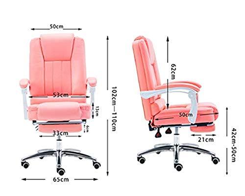 Kontorsstol konferensstol mottagningsstol PU mjuk stol hushåll arbetsstol datorstol GMING (färg: svart)