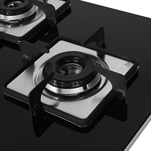 Faber-HobHobtop-3-Brass-Burner-Auto-Electric-Ignition-Glass-Top-HCT-753-SR-CRS-LBK-CI-Black-Mild-Steel