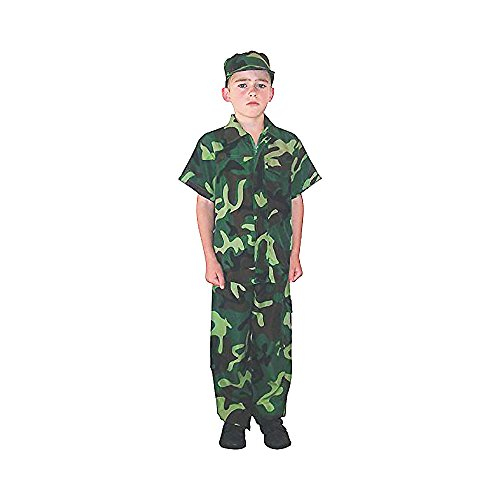 Kids Camo Camouflage Army Military Soilder Jumpsuit Halloween Costume - (Kids Army Camo)