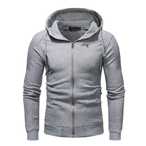 - Nevera Men Zipper Hoodie Fleece Swearshirt, Chest Pocket Pullover Jacket Coat