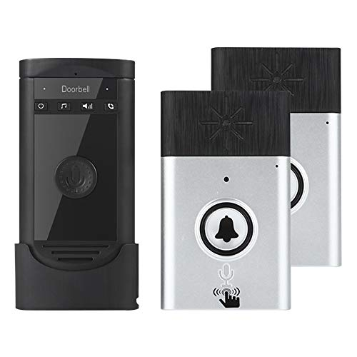Wireless Intercom Doorbell, Voice Two-Way Portable Walkie-talkie,Operating at Over 600 feet,Home Doorbell Intercom Kit with Long Standby Time (2 Outdoor unit + 1 Indoor unit, -