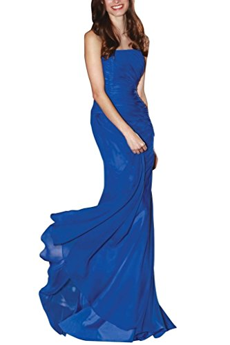 Charm Bridal Royal Blue chiffon summer dress Prom dress Holiday dresses long new -14-Royal Blue by Charm Bridal