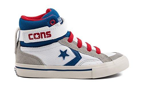 Converse - Converse Pro Blaze Hi Scarpe Sportive Bambino Bianche Pelle - Blanco, 27