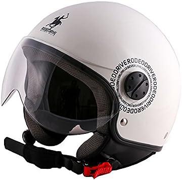 Amazon.es: Rodeo Drive Casco Moto, Color blanco, talla M