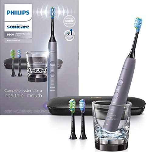 Philips Sonicare DiamondClean Smart 9300 Electric Rechargeable Power Toothbrush, For Complete Oral Care, Includes 3…