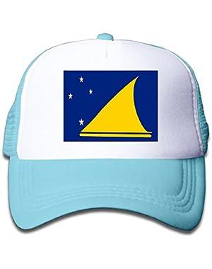 Flag Of Tokelau Boy & Girl Grid Baseball Caps Adjustable sunshade Hat For Children