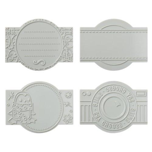 Fiskars 100920-1001 Marquis Design Plate Expansion Pack, Medium, 4-Pack ()