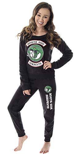 Riverdale Juniors' Southside Serpents TV Show 2 Piece Fleecy Loungewear Jogger Pants Pajama Set