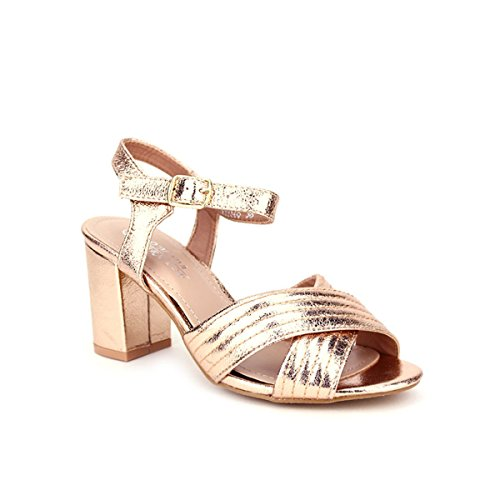 Cendriyon Champagne Corail Brillante Chaussures Femme Color Sandale Kios rFZrqp