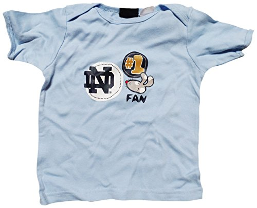 (STARTER Notre Dame Fighting Irish Blue Infant/Baby #1 Fan T-Shirt 12)