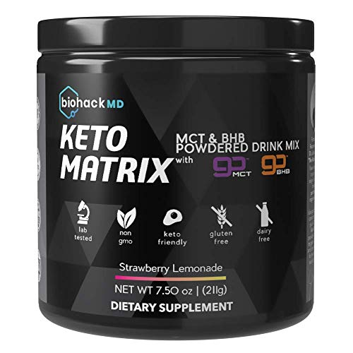 Keto Matrix Keto Supplement - Exogenous Ketones BHB Salts + MCT Oil Powder - Beta Hydroxybutyrate Keto Powder- Formulated by Dr. John Limansky MD,