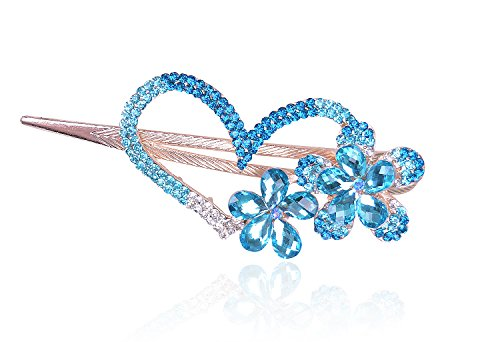 Buankoxy Love Heart Jewelry Crystal Hair Clips Hairpin - For Hair Clip Hairpins Beauty Tools (Rhinestone Heart Hair Pin)
