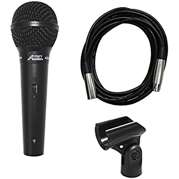 Audio 2000s ADM1064BL Dynamic Vocal Microphone with 16' XLR to XLR Cable