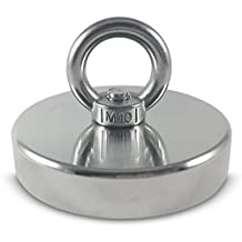 """500 LBS Pulling Force(226KG) Powerful Round Neodymium Magnet with Countersunk Hole and Eyebolt, 3.54"""" Diameter, Great for Salvage or Magnetic fishing"""