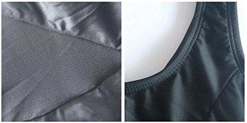 Traje de baño de las señoras Traje de baño de la playa del traje de baño del balneario siamés hueco hueco retro del color sólido Bikini Negro