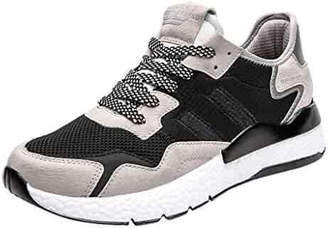 brand new 0769e 8068b Sllve-hive Men s Athletic Running Shoes Fashion Sneakers Casual Walking  Shoes Tennis Baseball Racquetball Retro