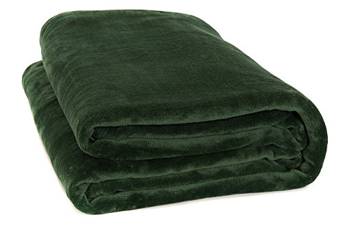 Fancy Collection Luxury Micro-Fleece Ultra Plush Solid Blanket (King, Hunter ()