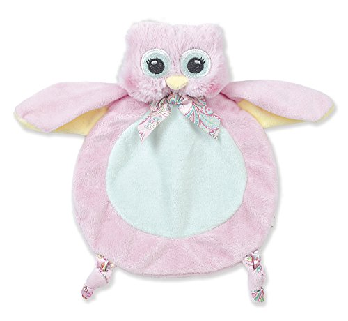 Bearington Baby Wee Lil' Hoots Plush Owl Security Blankie, Lovey, 8