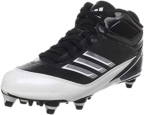 - adidas Men's Scorch X Mid D Football Cleat,Black/White/Metallic Silver,12.5 M US