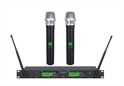 GTD Audio G-733H 2x800 Channel Diversity UHF Wireless microphone mic system by GTD Audio