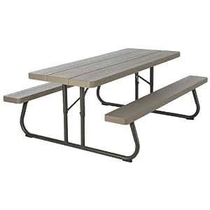 Amazon Com Lifetime 60105 Wood Grain Picnic Table And