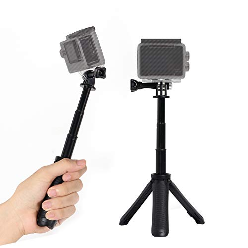 Extendable Selfie Stick Tripod for Gopro,SHIHONG Mini Telescopic Handheld Pole Monopod for Gopro Shorty GeekPro/GoPro HD Hero 6 5 4 3+ 3 2 1,SJCAM SJ4000 SJ5000 and Most Action Camera(Black)