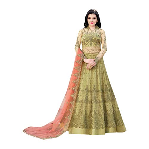 - Hit Indian Bollywood Evening Cocktail Net Anarkali Salwar Skirt style Suit Abaya Women Eid dress Semi-stitch 7942 3
