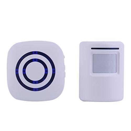 Wireless Digital Doorbell with PIR Sensor Infrared Induction Alarm Door Bell by CLKjdz