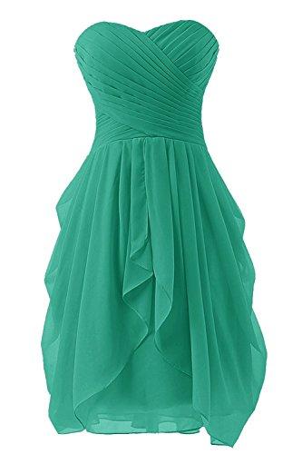 Grün Cocktailkleider Trägerloses Damen Kleid CoutureBridal® Kurzes Abendkleid Chiffon PnHvw8xaZq