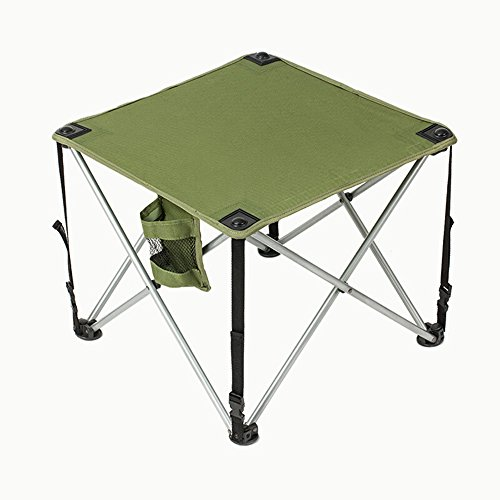 GZH Folding Table Ultralight Aluminum Outdoor Portable Camping Barbecue Picnic Table by GZH