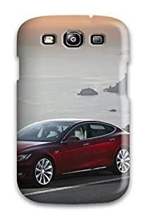 First Class Case Cover For Galaxy S3 Dual Protection Cover Tesla Model S 17