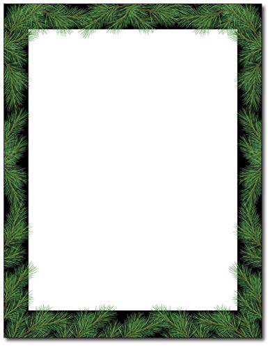Holiday Stationary - Christmas Pine Holiday Stationery - 80 Sheets