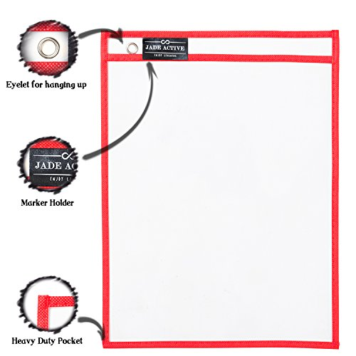 Dry Erase Pockets - Reusable + Oversized - Size 10 X 13 Inches - 30 Pockets for Adults and Children - Mixed Colors - Ideal to use at School or at Work Photo #3