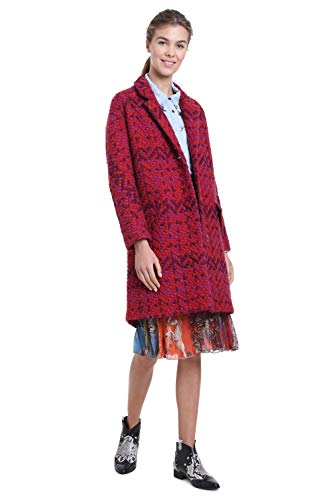 Rouge Taille Long 18wwewbu Desigual Manteau 42 Catrina Femme WnTWp76