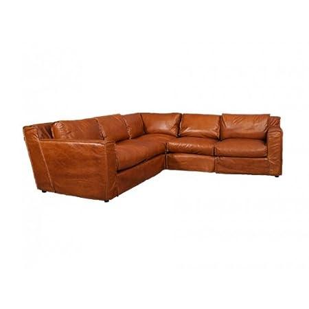 Divano Angolare Vera Pelle.Divano Angolare Con Pelle Redhill 5 Posti Columbia Brown Sofa Sede