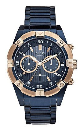 GUESS Men's Dial Analogue Watch Blue