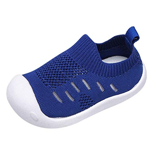 - Respctful✿Toddler Unisex Sneakers for Slip On Walking Knit Memory Foam Knit Mesh Sock Sneakers Blue