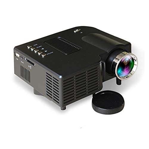 QTT Mini Projector, Home Projector LED Mini Mini Portable 1080P HD Projector (Black) from QTT