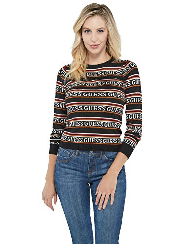 GUESS Factory Tommi Logo-Striped Sweater