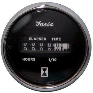 Chesapeake Black Stainless Steel Hour Meter
